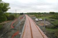 Progress looking toward Bathgate from Boghead Junction on 19 May 2010<br><br>[James Young 19/05/2010]