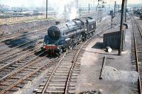 BR Standard class 5 4-6-0 no 73105 on manoeuvres at Craigentinny sidings on 26 May 1958. <br><br>[A Snapper (Courtesy Bruce McCartney) 26/05/1958]