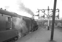 A BR Standard class 5 about to take a train out of Buchanan Street in the 1960s.<br><br>[K A Gray //]