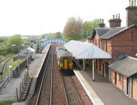 A Glasgow Central - Newcastle service calls at Annan on 13 May 2010. <br><br>[John Furnevel 13/05/2010]