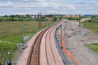 Looking west towards Armadale on 11 June 2010 with the down line now installed.<br><br>[James Young 11/06/2010]