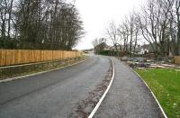 View north west towards Burnside Road over the site of the former Bathgate Lower station in March 2008 with new roads in evidence and housing developments underway. [See image 29357]<br><br>[John Furnevel 11/03/2008]