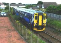 The 11.05 Kilmarnock - Girvan passes Barassie on 27 July 2010. [See image 26338 for the same place forty-seven years earlier years earlier]. The later viewpoint from the footbridge is necessary due to the subsequent addition of fencing.<br><br>[Colin Miller 27/07/2010]