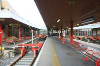 The colourful Bradford Interchange station on 28 September 2009.<br><br>[Ian Dinmore 28/09/2009]