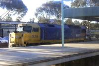 <I>Mother's little helper!</I> DL 50 waits at Adelaide Keswick on 26 September 2008 to be brought into the train for the climb out towards Broken Hill. Taken through a coach window of the <I>Indian Pacific</I> on 26 September 2008.<br><br>[Colin Miller 26/09/2008]