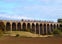 A 6-car 170 crossing the Avon Viaduct, Linlithgow, on 16 October.<br> <br><br>[Brian Forbes 16/10/2010]