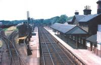 Looking over Annan station towards Dumfries in the summer of 1955.<br><br>[A Snapper (Courtesy Bruce McCartney) 11/07/1955]