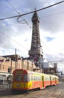 Car no 672, with 682 trailing, heading south past Blackpool Tower on the 19th of October 2010.<br><br>[Bill Roberton 19/10/2010]