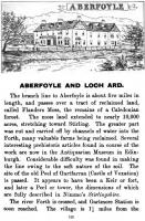 An interesting page from Shearers Guide of 1907 giving information about Aberfoyle, reached by The Strathendrick and Aberfoyle Railway.<br><br>[Alistair MacKenzie 04/11/2010]