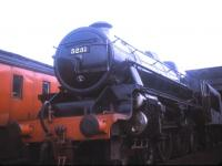 Black 5 no 5231 stands on Carnforth shed in August 1970.<br><br>[Jim Peebles /08/1970]
