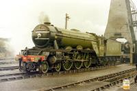 4472 <I>Flying Scotsman</I>, photographed at 'Steamtown', Carnforth, in 1975.<br><br>[Colin Miller //1975]