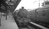 B1 4-6-0 no 61344 stands at Glasgow's Buchanan Street station on 25 July 1966 waiting to take out the 5.50pm service to Dunblane. The locomotive was withdrawn from Thornton Junction 2 months later.<br><br>[K A Gray 25/07/1966]
