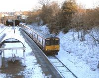 314 207 runs into Pollokshields West with an Inner Circle service on 27 November.� This is a station-rich part of Glasgow with Pollokshields East, Queen's Park, Crossmyloof and Maxwell Park all around a half-mile away. <br><br>[David Panton 27/11/2010]