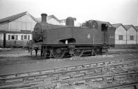 Gresley J50 0-6-0T no 68925 on shed at Copley Hill, Leeds in March 1960, some 4 years before closure. <br><br>[Robin Barbour Collection (Courtesy Bruce McCartney) 20/03/1960]
