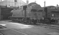 5630 and 3730 stand outside the former Taff Vale shed at Abercynon (88E) in the summer of 1962. [See image 31974 for a modern day view of the shed.]<br><br>[K A Gray 12/08/1962]