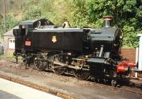 Nicely turned out GWR 0-6-0PT no 1501 stands at Bewdley in 1997.<br><br>[Colin Miller /09/1997]