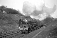 BR Standard class 9F 2-10-0 no 92097 with the RCTS <I>North Eastern No 2 Rail Tour</I> near Beamish on 10 April 1965.<br><br>[K A Gray 10/04/1965]