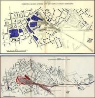Old maps produced by the British Transport Commission in 1951. The one above shows Glasgow's Queen Street and Buchanan Street stations, while that below shows a proposed new North station to replace them.<br> Images ex Hipkiss.<br><br>[Alistair MacKenzie //1951]