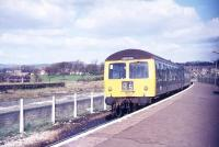 A DMU for Preston awaits its scheduled departure time from Colne station in mid 1977.<br><br>[Ian Dinmore //1977]
