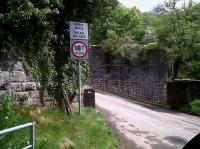 About a mile East of Sennybridge, the N&B line crossed the River Usk at an angle, whereas this minor road takes the direct route. The road bridge may be weak, but it can carry 18 tons more than the rail bridge! View looks North in May 2011.<br><br>[Ken Strachan 08/05/2011]