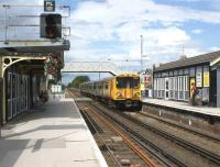 Looking north at Ainsdale on 26 June 2011 as Merseyrail 508140 arrives with a Liverpool bound train.<br><br>[John McIntyre 26/06/2011]