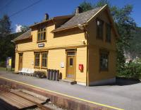 Bolstad�yri Station on The Bergen Railway between Bergen and Voss on a beautiful July afternoon - about the only day during our trip to Norway during which it didn't rain!<br><br>[Beth Crawford 27/07/2011]