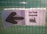 Another informal, but effective, direction sign at Loughborough Midland on 30 September [see image 35943]. Perhaps EMT staff know more than the rest of us regarding future generations of MML motive power?<br><br>[Ken Strachan 30/09/2011]