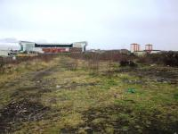 This view taken from the entrance to the former London Road goods yard in March 2008 looking towards Celtic Park stadium shows clearance works carried out in connection with Glasgow's proposed East End Regeneration route and velodrome see image [[38764]].<br><br>[Colin Harkins 15/03/2008]