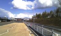 Scene just prior to the opening of the 'Clyde Gateway' (Glasgow's East End Regeneration Route). The road is where the embankment that carried the Switchback line into London Road Goods yard once stood. A little of what was left is seen on the right of the picture<br><br>[Colin Harkins 22/04/2012]