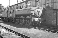Collett 0-6-0PT no 6431 standing alongside Abercynon shed in August 1960.<br><br>[K A Gray 12/08/1960]