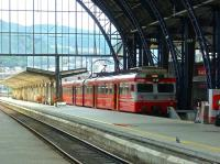 A local train for Arna stands in Bergen station on 13 August 2012.<br><br>[Bruce McCartney 13/08/2012]