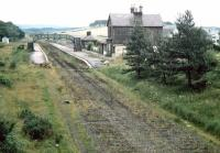 Looking east over Castle Douglas in February 1970. The station had closed to passengers in June 1965.<br><br>[John Furnevel 07/02/1970]