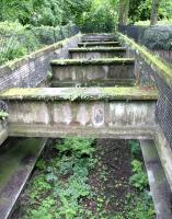 Looking down at the platforms of the Glasgow Central Railway station at Botanic Gardens in July 2005 - 66 years after the station closed.<br><br>[John Furnevel 10/07/2005]