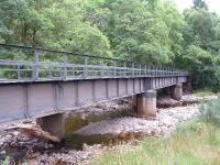 Viaduct over the Calder Burn.This is now part of The Great Glen Way and has been given a wooden deck, 28/07/05.<br><br>[John Gray 28/7/2005]