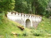 Ornate Bridge almost half way between Invergarry Station site and Aberchalder, 28/07/05.<br><br>[John Gray //]