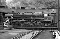Just after 10:30 on 5th September 1974 DB 3 cylinder 2-10-0 No. 044 592 has emerged from the roundhouse at Betzdorf and will take a freight out of the adjacent marshalling yard, which was located on the main line between K�ln and Siegen.<br><br>[Bill Jamieson 05/09/1974]