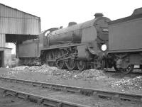 King Arthur class 4-6-0 no 30765 <I>Sir Gareth</I> on shed at 70D Basingstoke in August 1961. The locomotive was withdrawn from here in September the following year.<br><br>[K A Gray 15/08/1961]