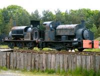 Pair of preservation candidates at Beamish Museum in June 2013. On the right is an 0-4-0ST industrial locomotive believed to date from around 1900 and to have once worked in Stockton Ironworks. It carries the number 5 and the name <I>Malleable</I>. On the left is Manning Wardle 0-6-0ST 1532 of 1901, named <I>Newcastle</I>.<br><br>[Veronica Clibbery 11/06/2013]