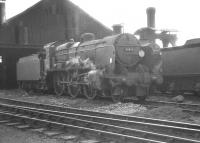 Maunsell U class 2-6-0 no 31615 on Basingdtoke shed in the summer of 1961. <br><br>[K A Gray 15/08/1961]