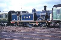 Caledonian Railway 419 newly restored at Cowlairs Works in September 1964.<br><br>[G W Robin 20/09/1964]