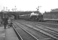 Having brought in the 1.30pm ex-Aberdeen on 26 July 1966, A2 Pacific no 60532 <I>Blue Peter</I> reverses out of Buchanan Street station and heads for St Rollox shed.<br><br>[K A Gray 26/07/1966]
