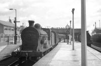 Station pilot at Belfast Great Victoria Street on 28 August 1965 is S Class 4-4-0 no 171, seen here preparing to take out a train of empty stock.<br><br>[K A Gray 28/08/1965]