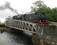 45407 takes <I>The Jacobite</I> excursion to Mallaig over Banavie swing bridge in September 2005.<br><br>[John Furnevel 25/09/2005]