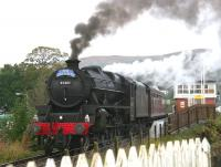 45407 brings <i>The Jacobite</i> east through Banavie station on 25 September 2005 on its way back to Fort William. <br><br>[John Furnevel 25/09/2005]