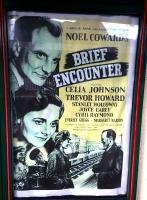 An original poster for the 1945 film <I>Brief Encounter</I>, much of which was shot at Carnforth station, on display there 70 years on.<br><br>[Ken Strachan 28/01/2015]