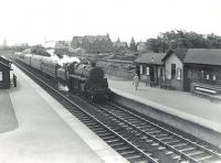 Corkerhill shed's BR Standard class 4 2-6-0 76096 passing Ardrossan South Beach on 6 July 1959 at the head of a Glasgow St Enoch - Winton Pier express. <br><br>[G H Robin collection by courtesy of the Mitchell Library, Glasgow 06/07/1959]