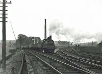 Caley <I>Jumbo</I> 0-6-0 57341 labours past Bellshaugh Junction with an eastbound freight on 22 September 1959. [Ref query 6530]<br><br>[G H Robin collection by courtesy of the Mitchell Library, Glasgow 22/09/1959]
