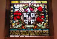 Memorial window in Alloway Parish Church to William Smith Dixon of 'Dixon's Blazes', which once lit up the sky on the south side of Glasgow... as those of a certain age will remember seeing from passing trains. [See image 27098]<br><br>[Colin Miller 08/08/2015]