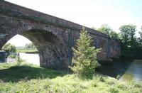 Railway bridge over the River Annan just west of Annan station, photographed in May 2007 from the east bank of the river. [Ref query 6889]<br><br>[John Furnevel 30/05/2015]