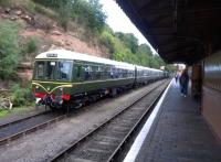 DMU stock - allegedly heading for New Holland - stabled alongside Bewdley station on 26th August 2015.<br><br>[Ken Strachan 26/08/2015]